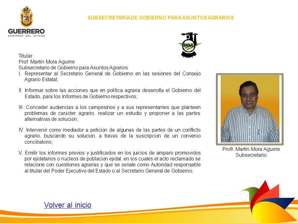 SUBSECRETARÍA DE GOBIERNO PARA ASUNTOS AGRARIOS