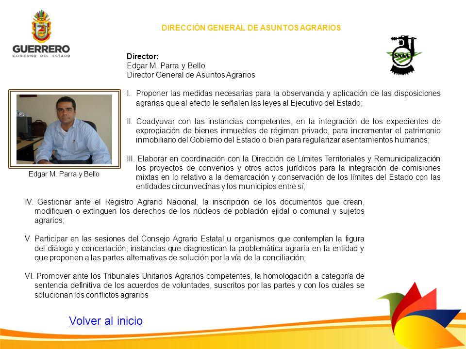 DIRECCIÓN GENERAL DE ASUNTOS AGRARIOS