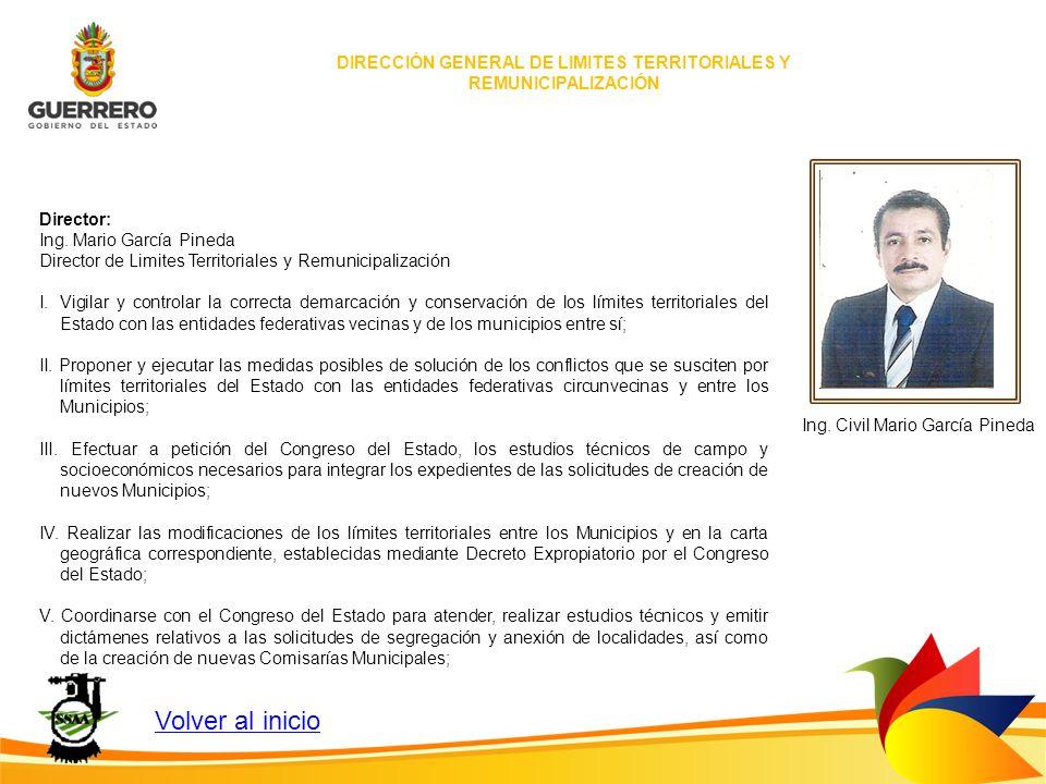 DIRECCIÓN GENERAL DE LIMITES TERRITORIALES Y REMUNICIPALIZACIÓN