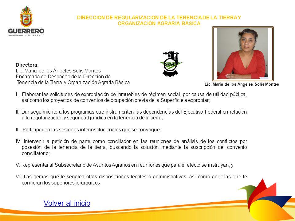 Lic. María de los Ángeles Solís Montes