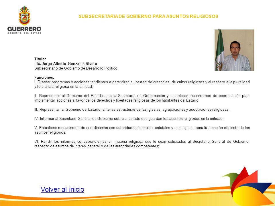SUBSECRETARÍA DE GOBIERNO PARA ASUNTOS RELIGIOSOS