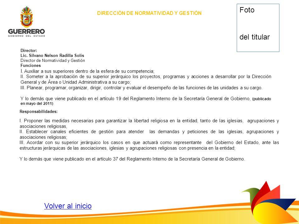 DIRECCIÓN DE NORMATIVIDAD Y GESTIÓN