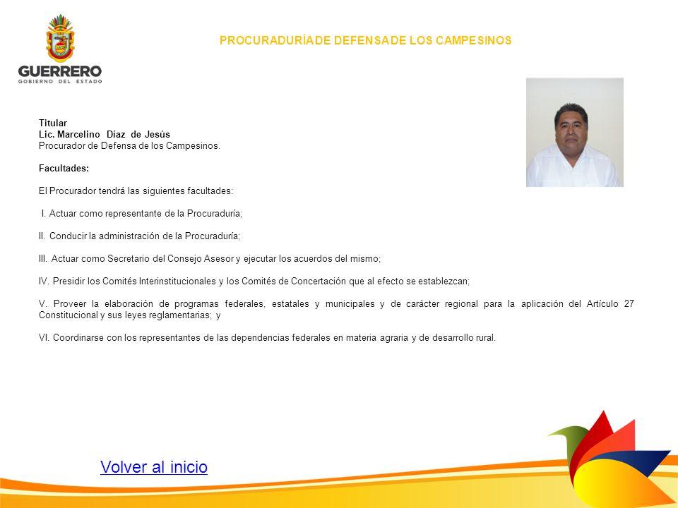 PROCURADURÍA DE DEFENSA DE LOS CAMPESINOS