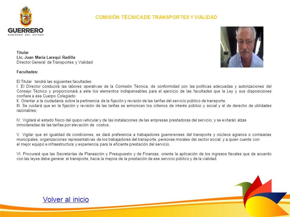 COMISIÓN TÉCNICA DE TRANSPORTES Y VIALIDAD