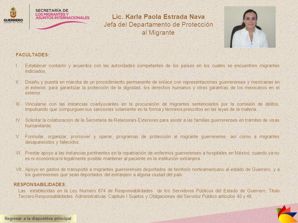 Lic. Karla Paola Estrada Nava Regresar a la dispositiva principal