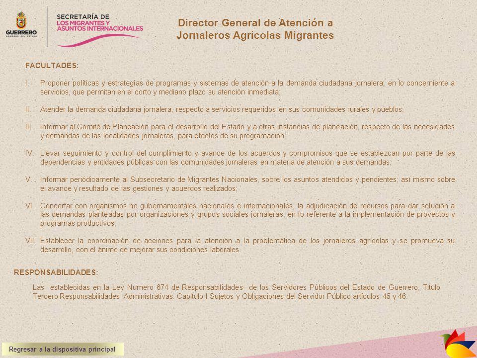 Director General de Atención a Jornaleros Agrícolas Migrantes