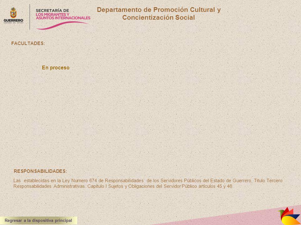 Departamento de Promoción Cultural y Concientización Social