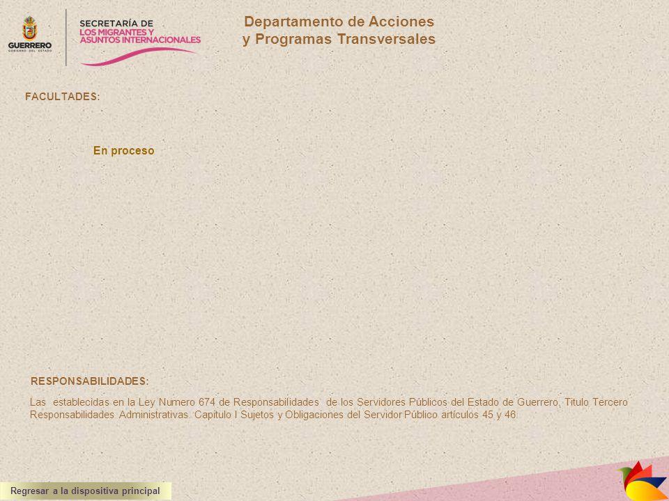 Departamento de Acciones y Programas Transversales