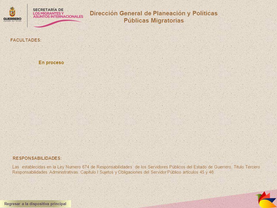Dirección General de Planeación y Políticas Públicas Migratorias