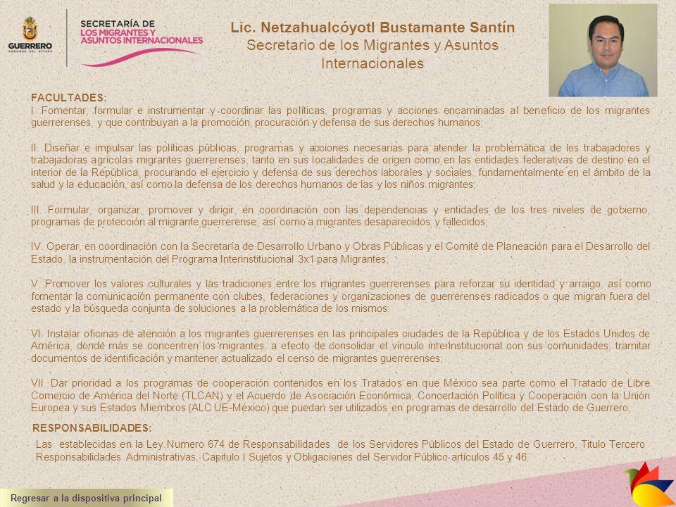 Lic. Netzahualcóyotl Bustamante Santín