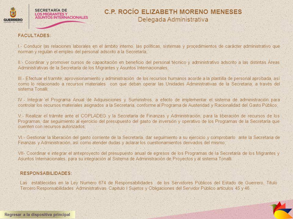 C.P. ROCÍO ELIZABETH MORENO MENESES