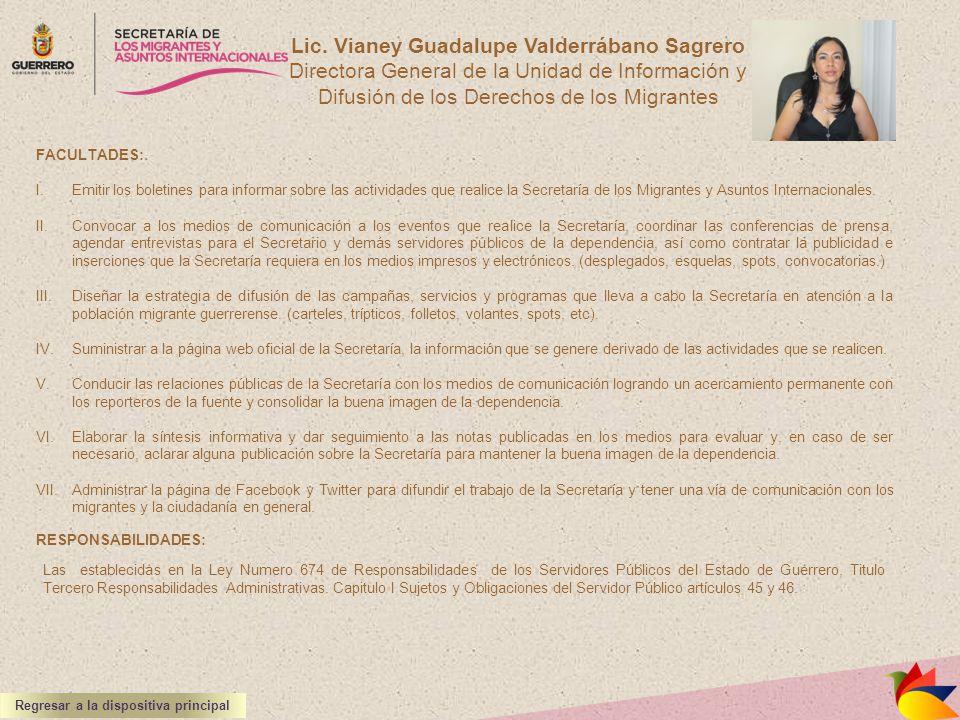 Lic. Vianey Guadalupe Valderrábano Sagrero