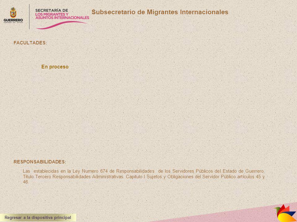 Subsecretario de Migrantes Internacionales
