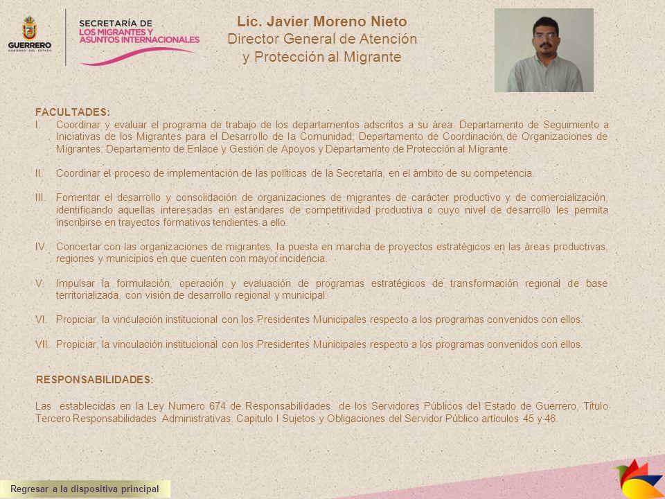 Lic. Javier Moreno Nieto Regresar a la dispositiva principal
