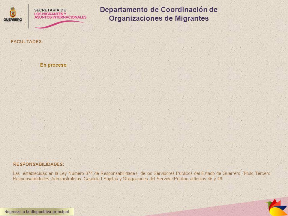 Departamento de Coordinación de Organizaciones de Migrantes