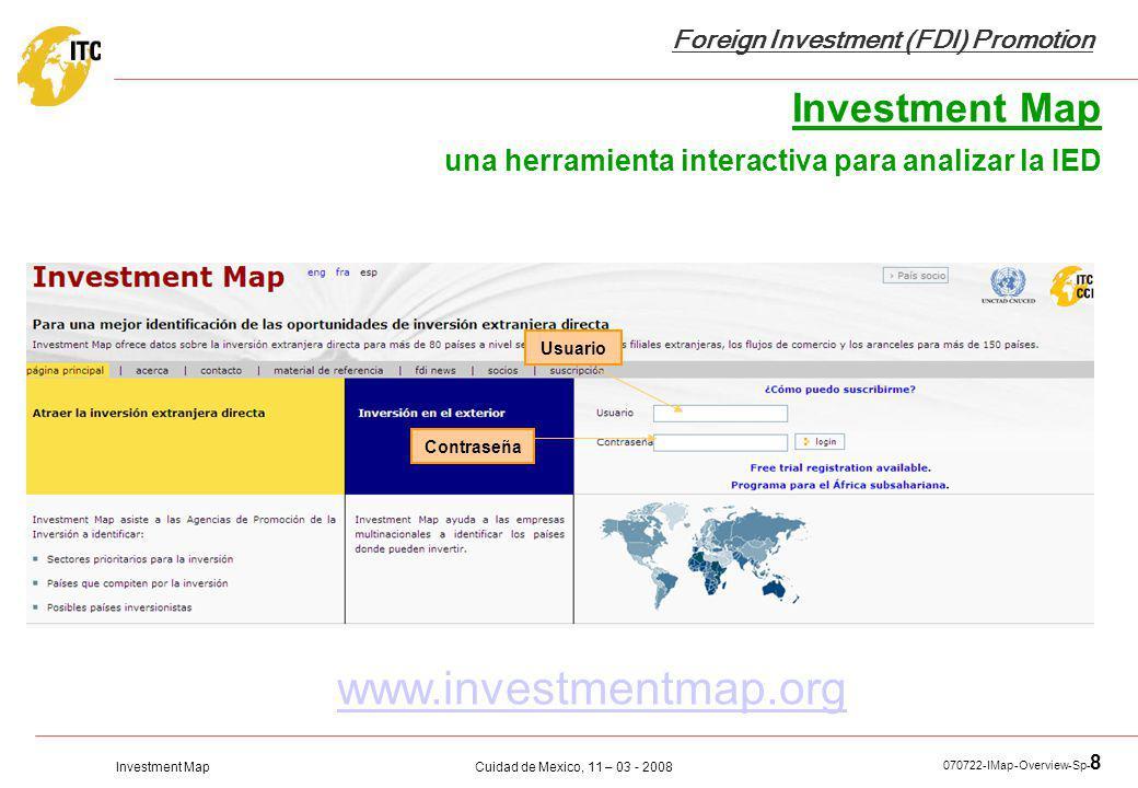 Investment Map una herramienta interactiva para analizar la IED