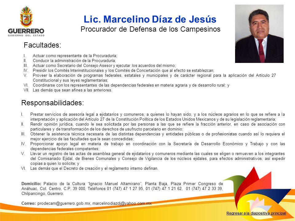 Lic. Marcelino Díaz de Jesús