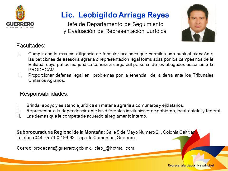 Lic. Leobigildo Arriaga Reyes