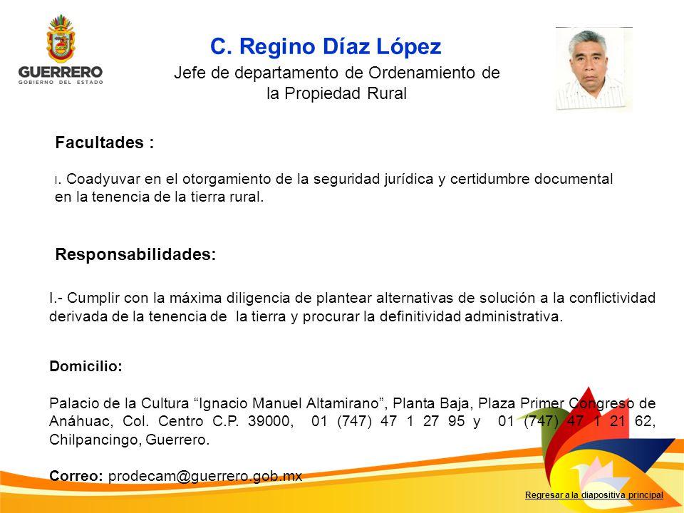Jefe de departamento de Ordenamiento de la Propiedad Rural