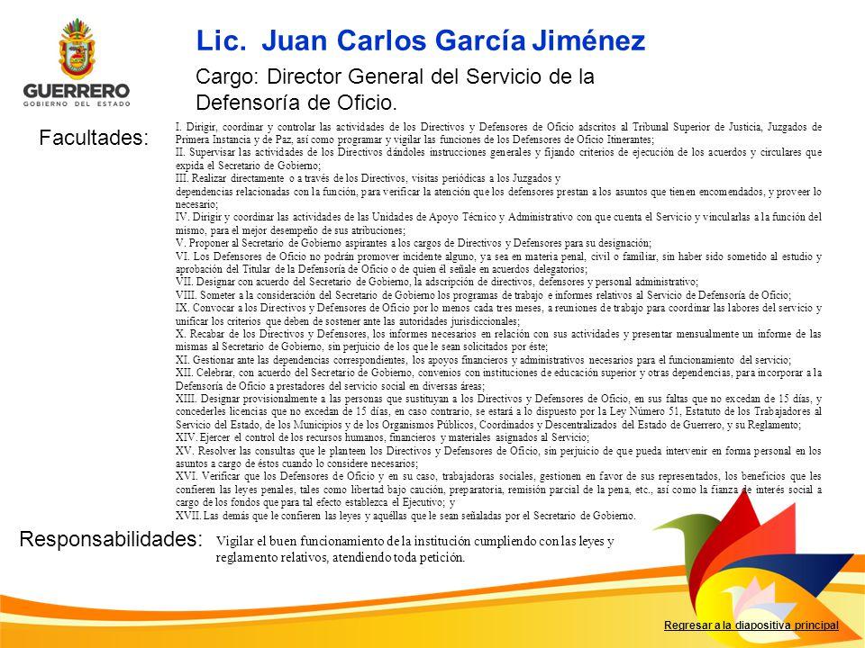 Lic. Juan Carlos García Jiménez