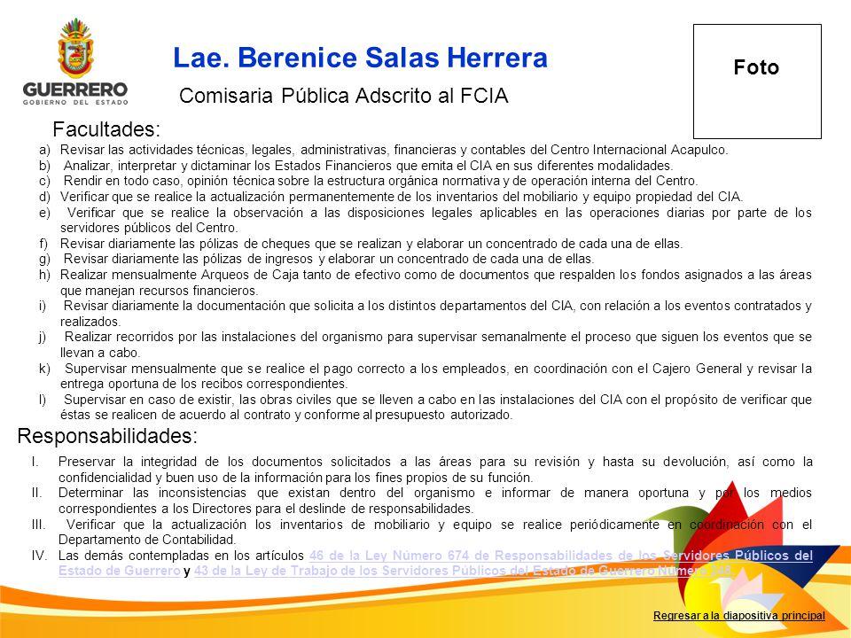 Lae. Berenice Salas Herrera
