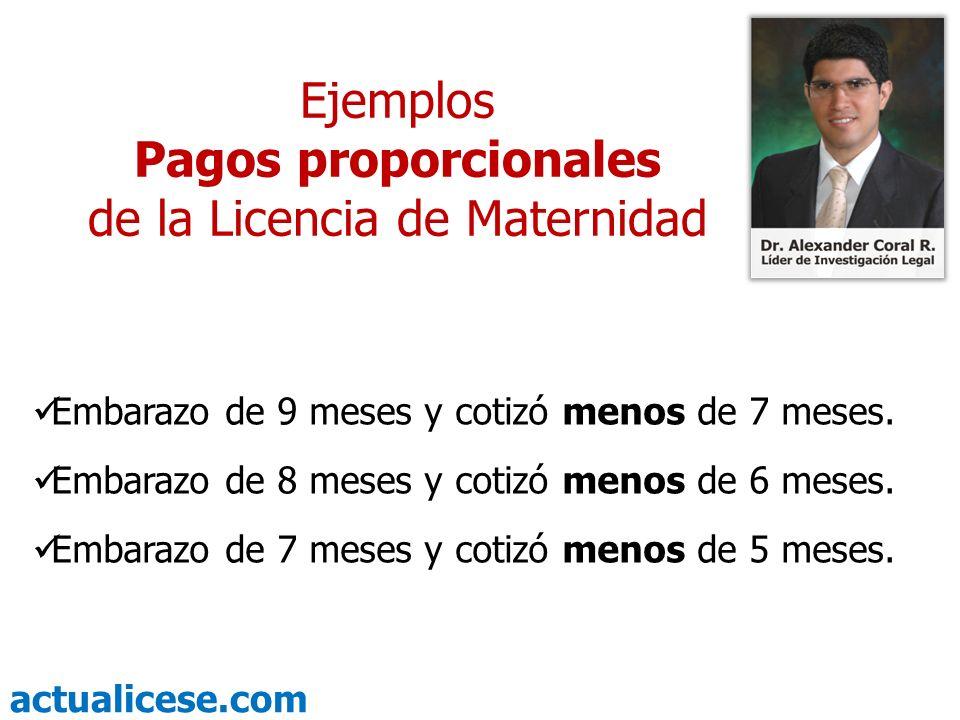 de la Licencia de Maternidad