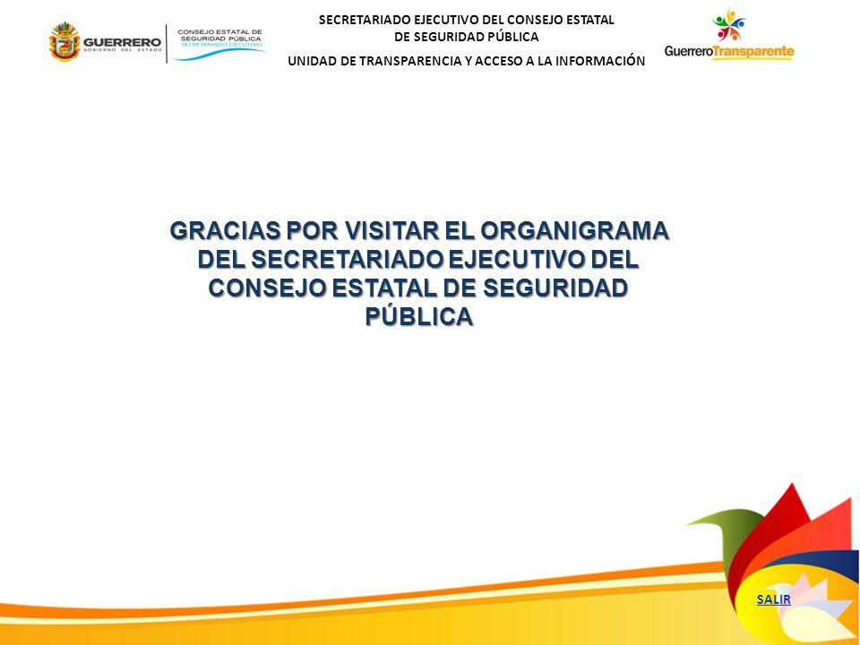GRACIAS POR VISITAR EL ORGANIGRAMA DEL SECRETARIADO EJECUTIVO DEL CONSEJO ESTATAL DE SEGURIDAD PÚBLICA