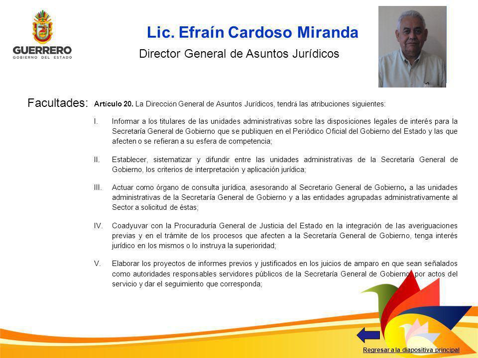 Director General de Asuntos Jurídicos