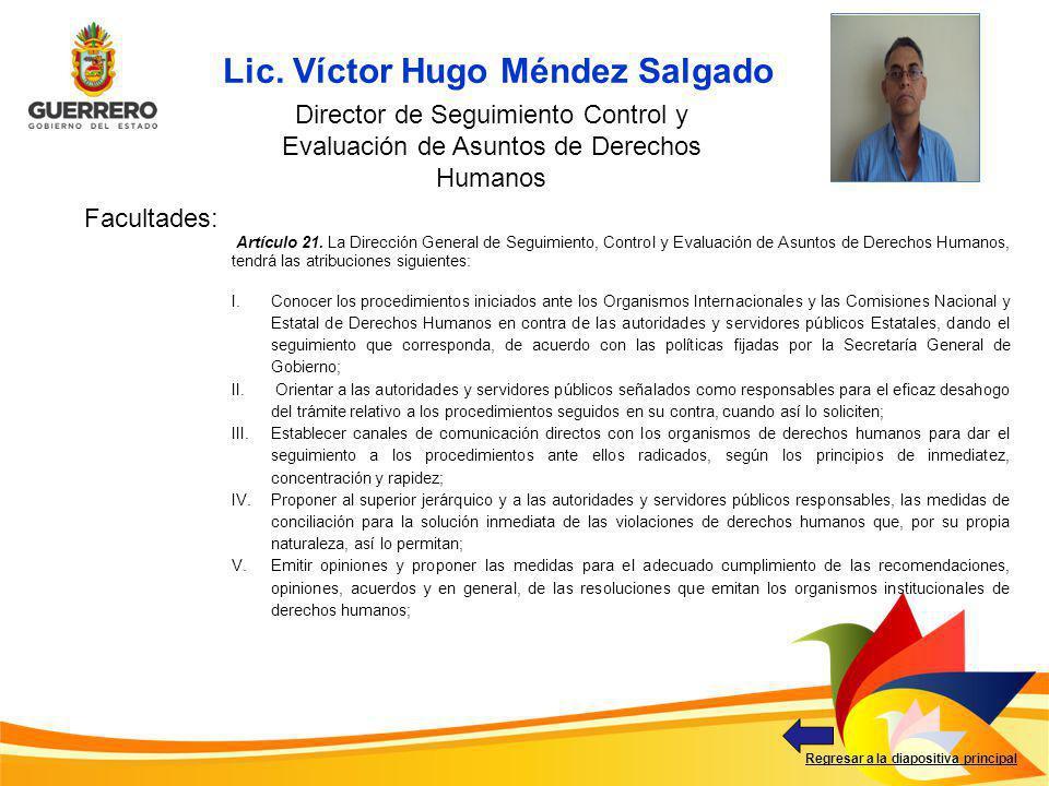 Lic. Víctor Hugo Méndez Salgado