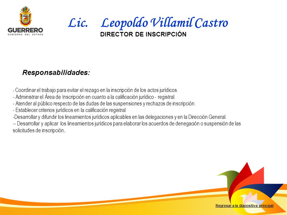 DIRECTOR DE INSCRIPCIÓN