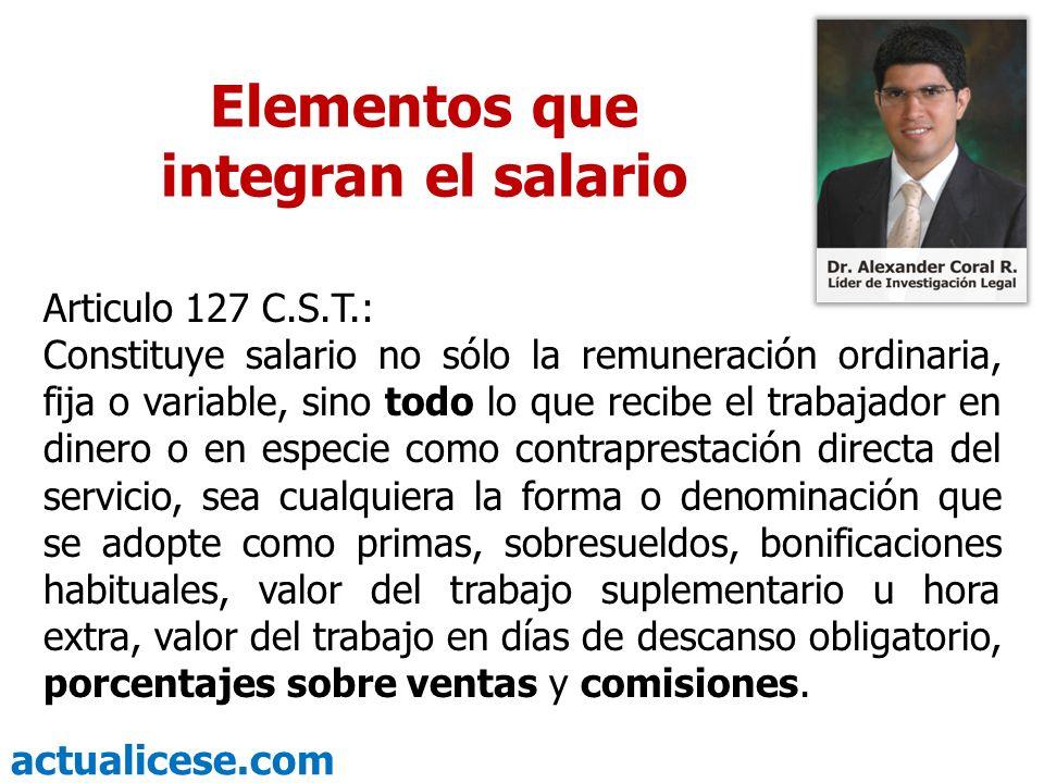 Elementos que integran el salario