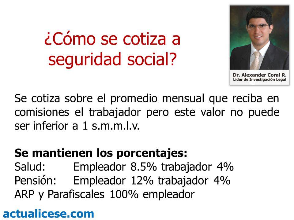 ¿Cómo se cotiza a seguridad social