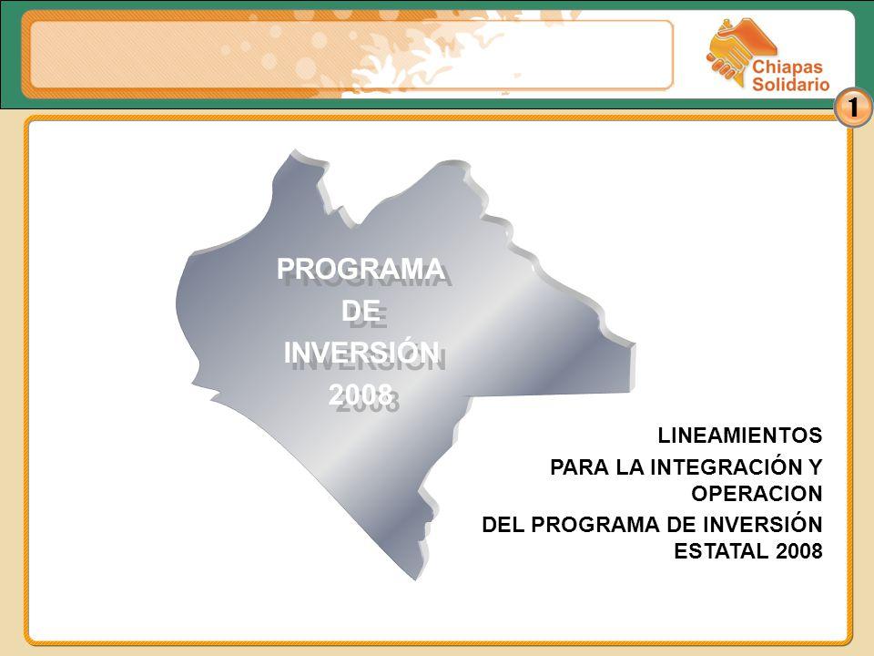 PROGRAMA DE INVERSIÓN 2008 LINEAMIENTOS