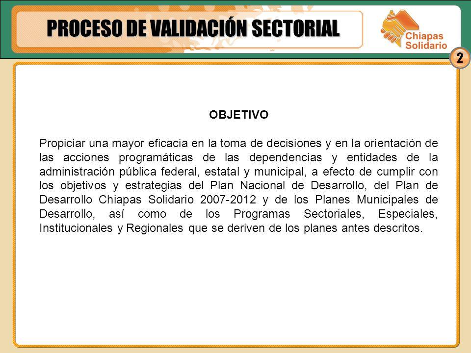 PROCESO DE VALIDACIÓN SECTORIAL