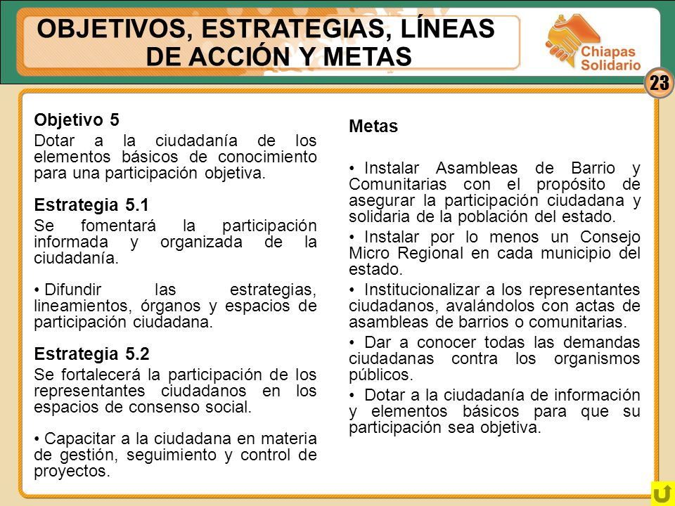 OBJETIVOS, ESTRATEGIAS, LÍNEAS DE ACCIÓN Y METAS