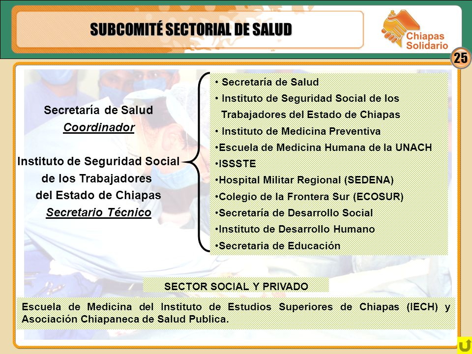 Instituto de Seguridad Social SECTOR SOCIAL Y PRIVADO