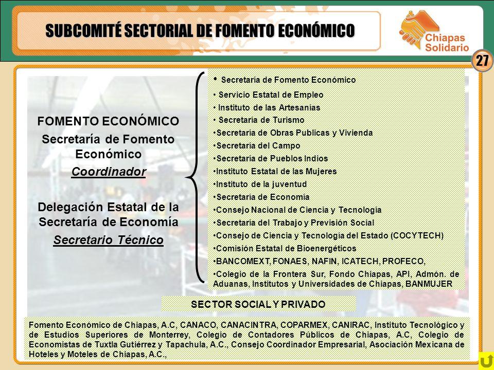 SUBCOMITÉ SECTORIAL DE FOMENTO ECONÓMICO