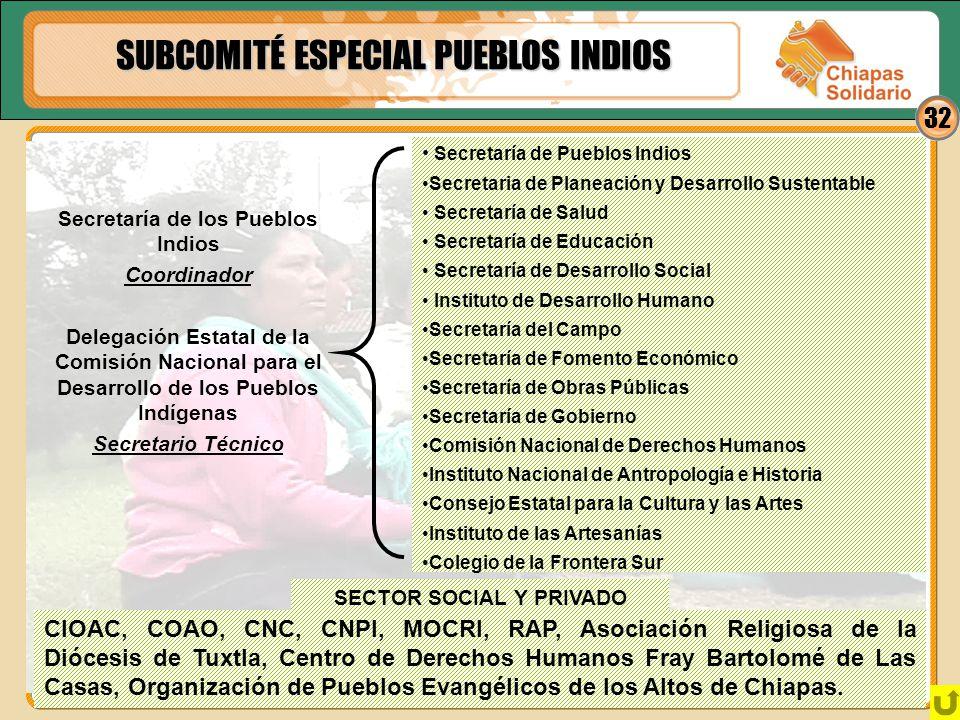 Secretaría de los Pueblos Indios SECTOR SOCIAL Y PRIVADO