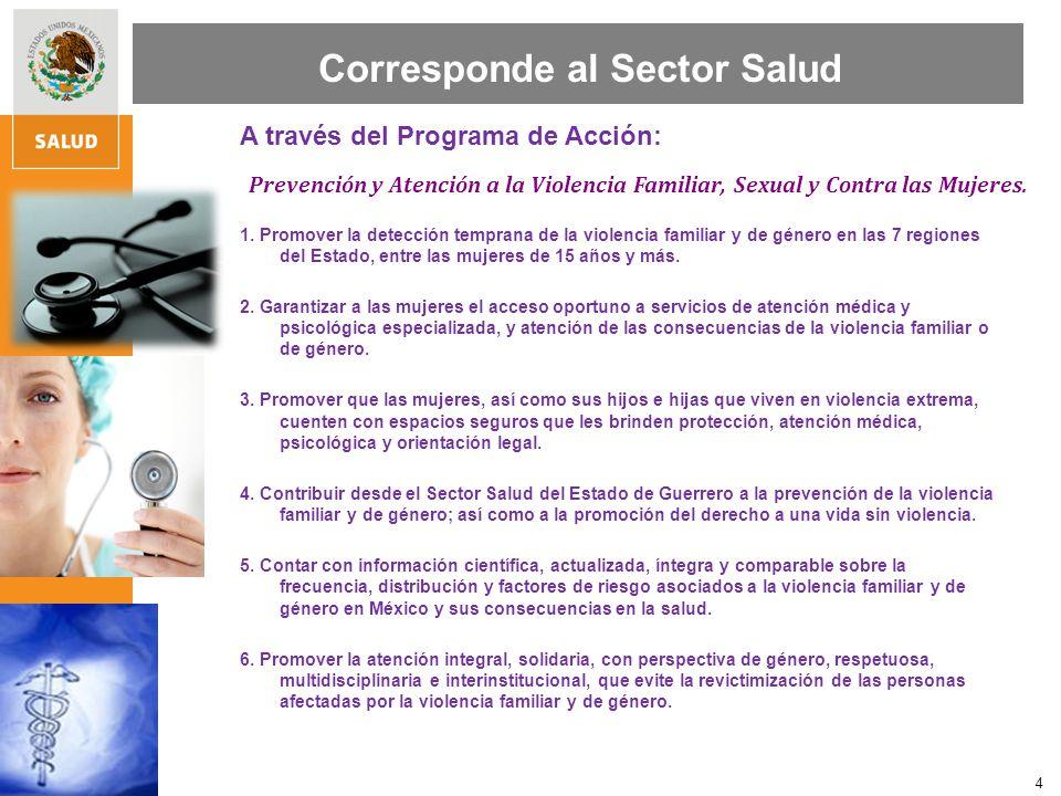 Corresponde al Sector Salud