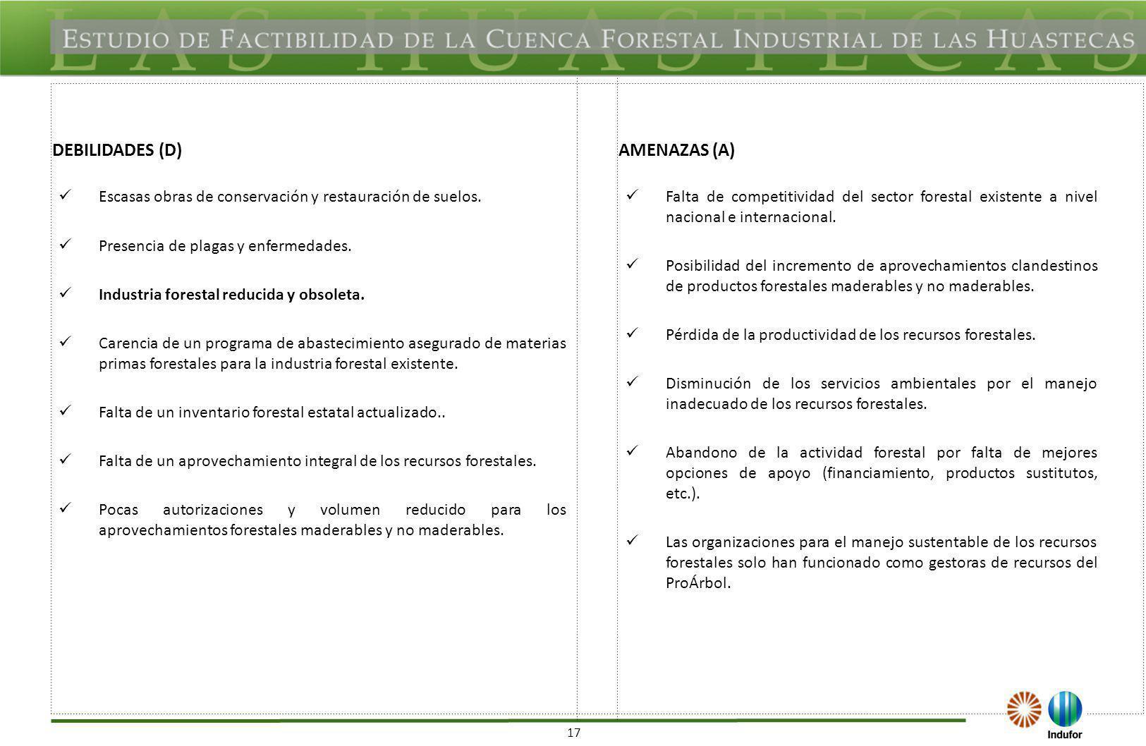 TAMAULIPAS FORTALEZAS (F) OPORTUNIDADES (O)