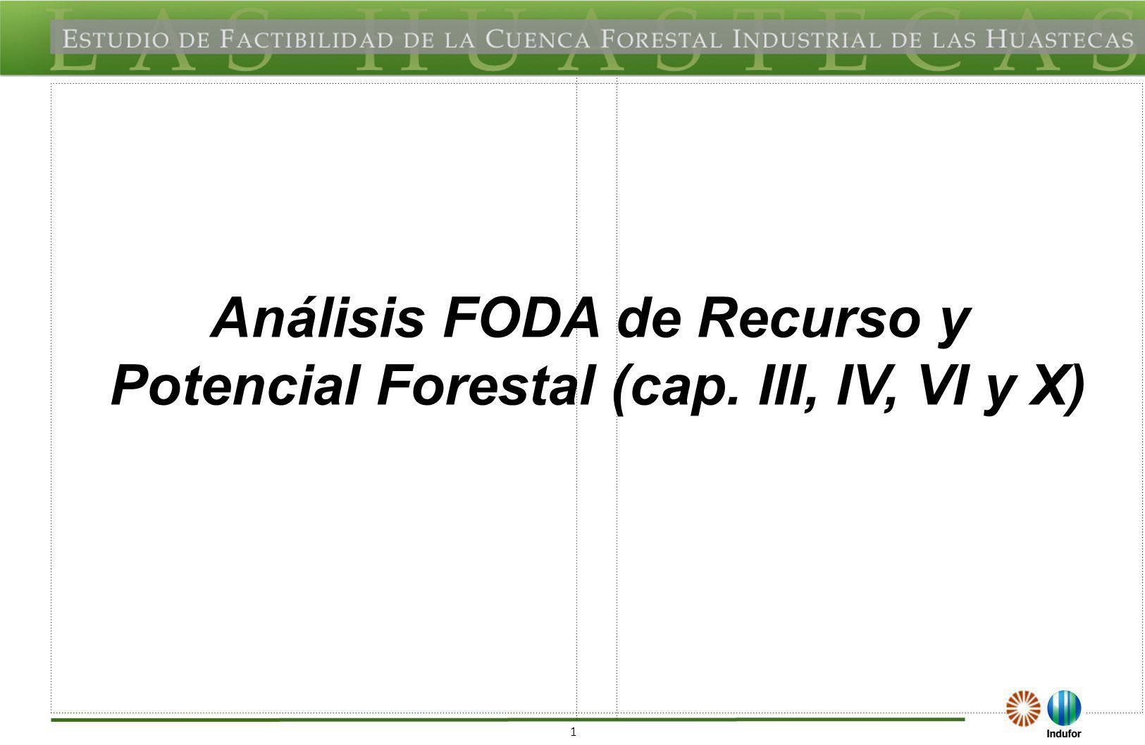 FODA DEL REGIONAL DEL RECURSO Y POTENCIAL FORESTAL FORTALEZAS (F)