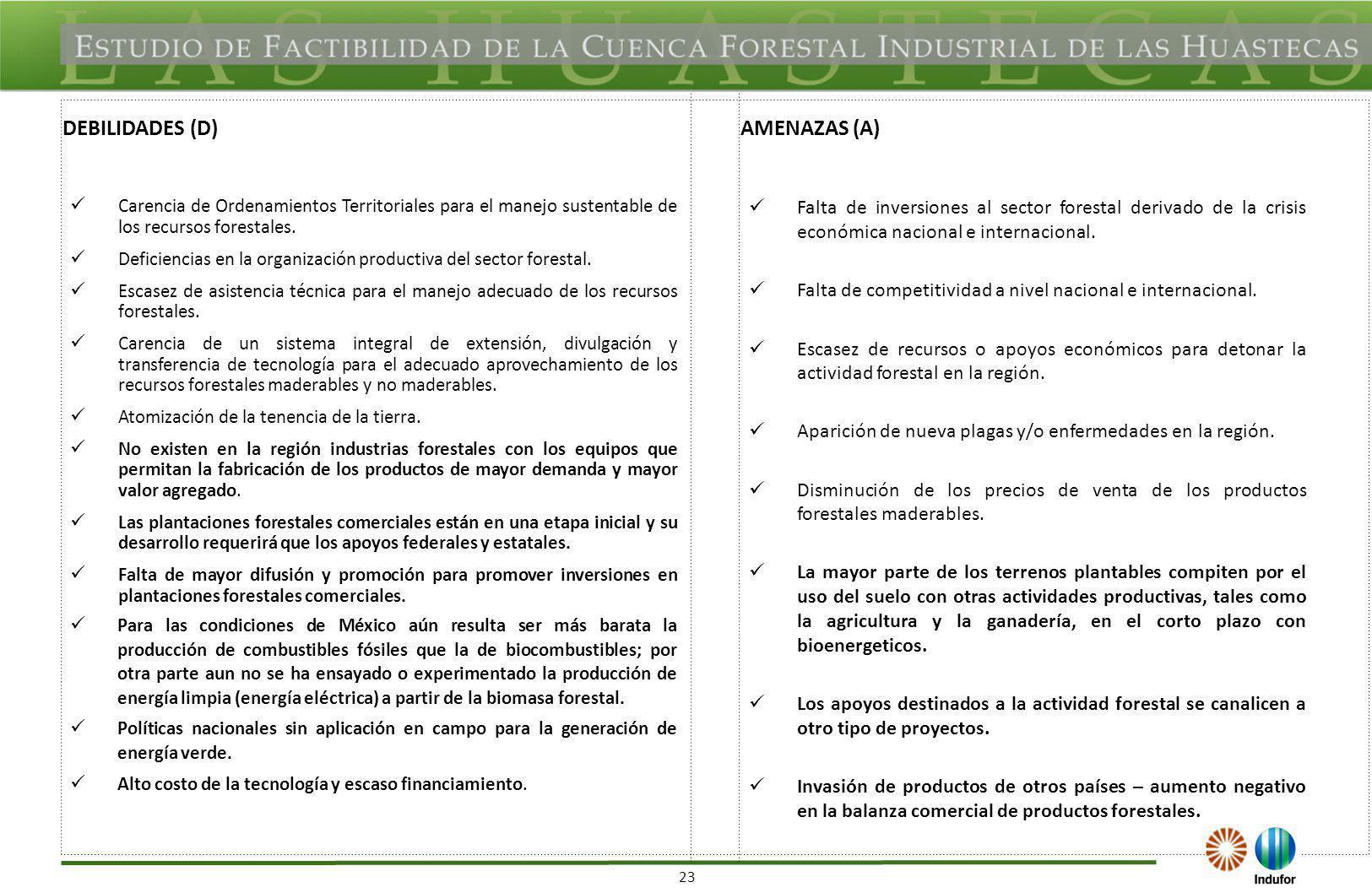 FODAS ESTATALES HIDALGO FORTALEZAS (F) OPORTUNIDADES (O)