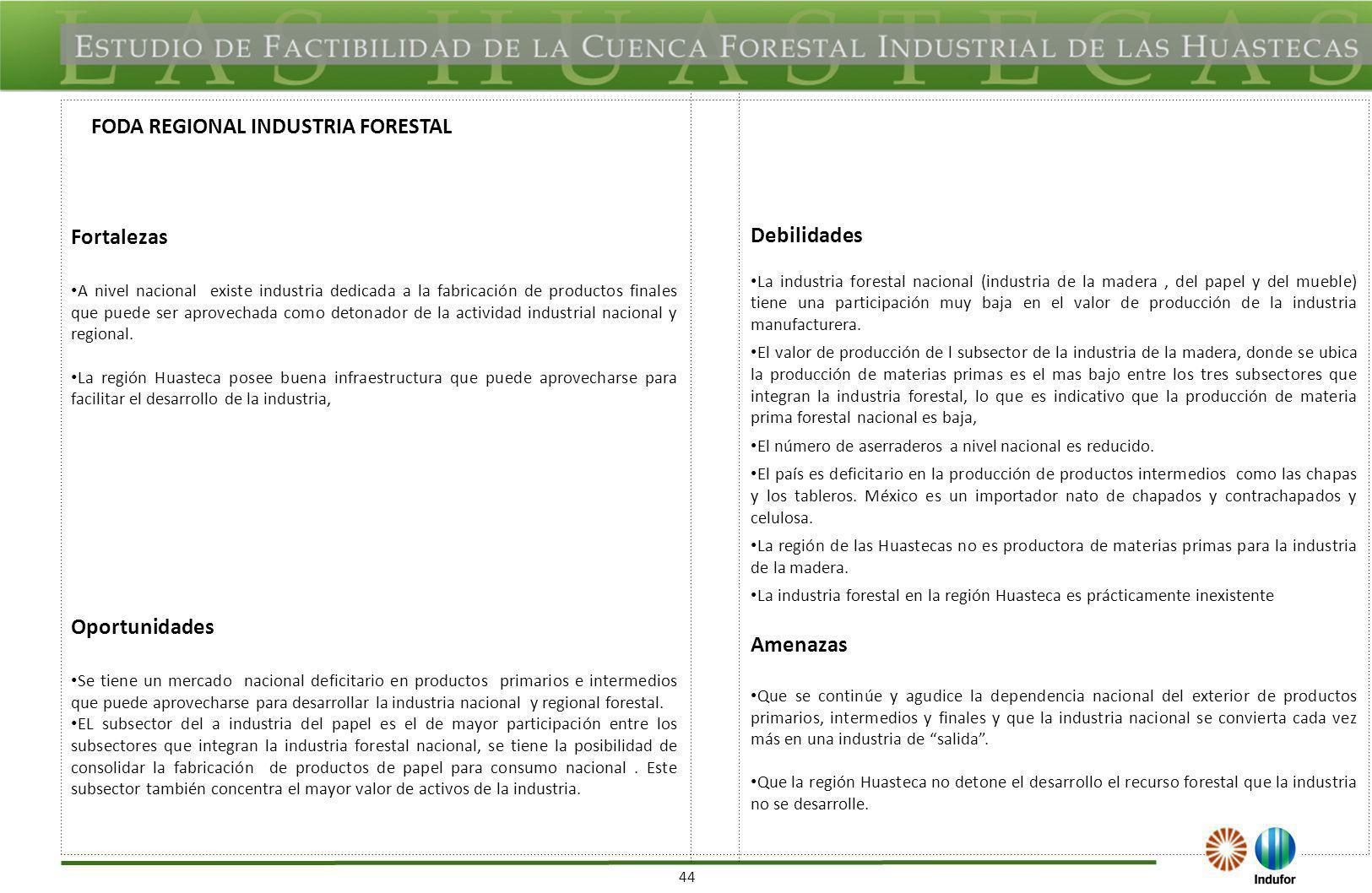 FODA REGIONAL IDENTIFICACIÓN DE PROYECTOS, PLANES INDUSTRIALES EXISTENTES Y DE SU POTENCIAL)