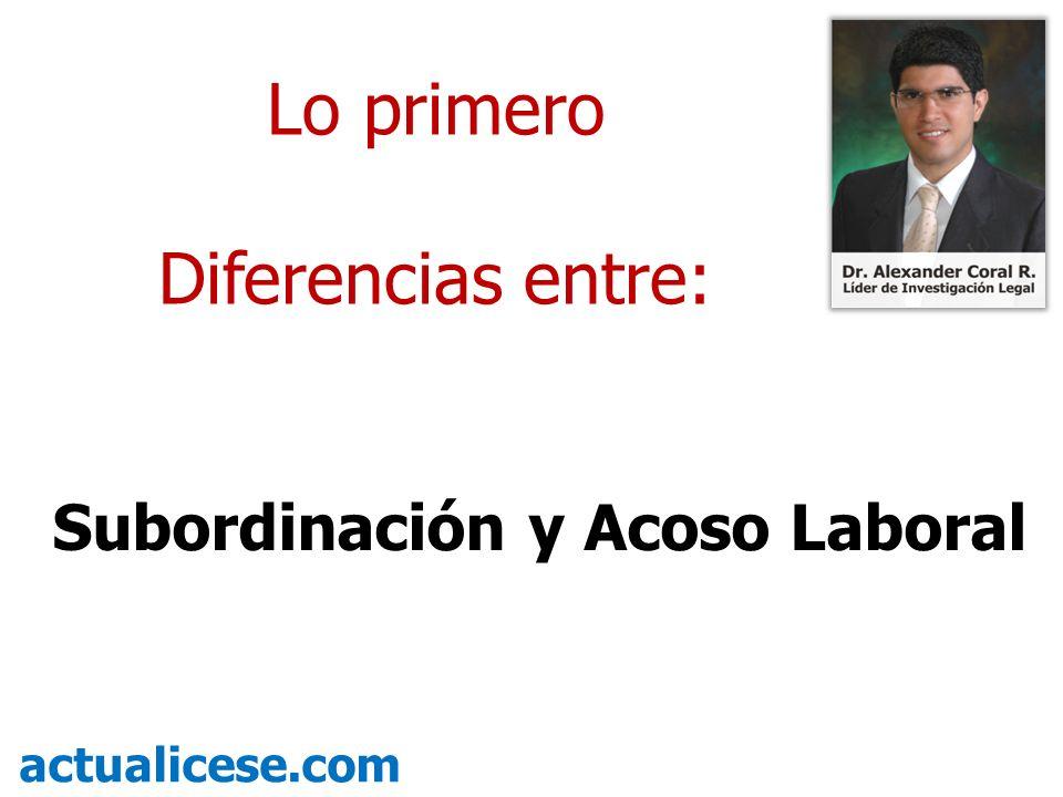 Subordinación y Acoso Laboral