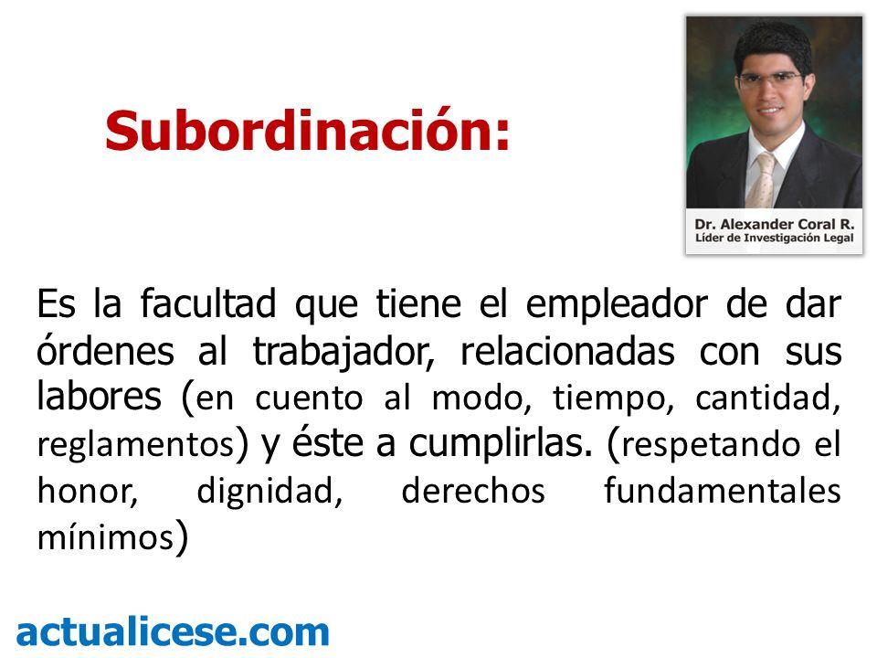 Subordinación: