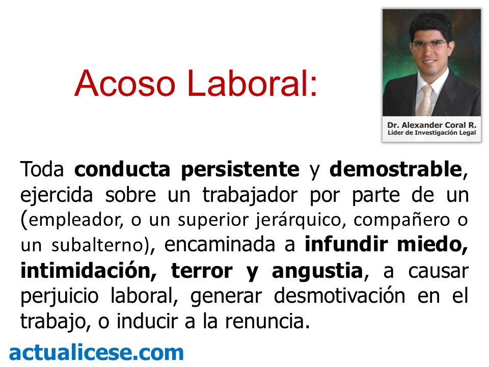Acoso Laboral: actualicese.com