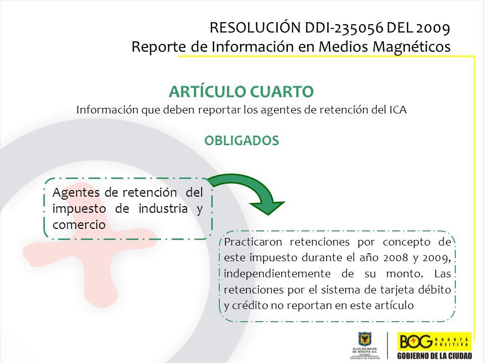 Información que deben reportar los agentes de retención del ICA