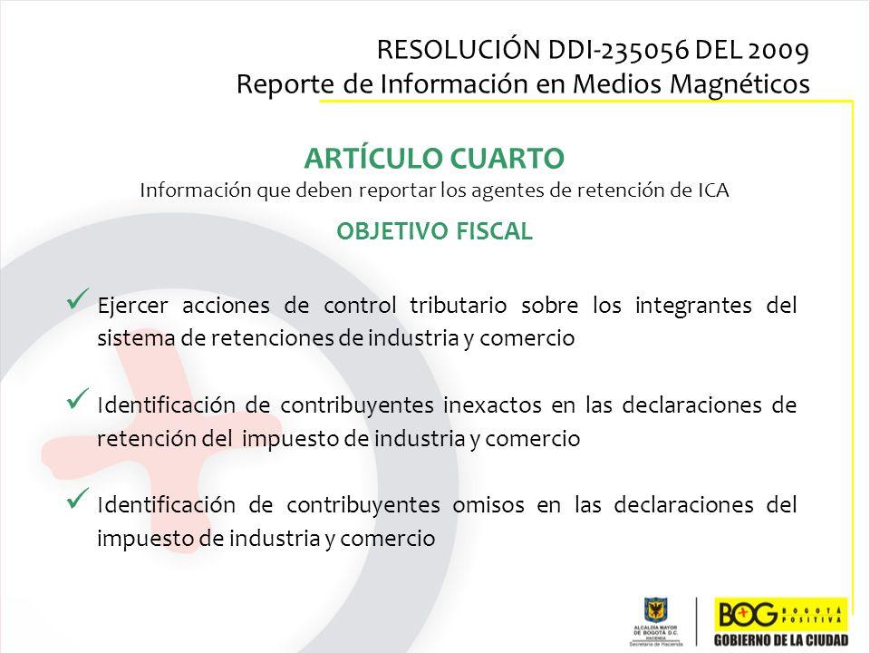 Información que deben reportar los agentes de retención de ICA