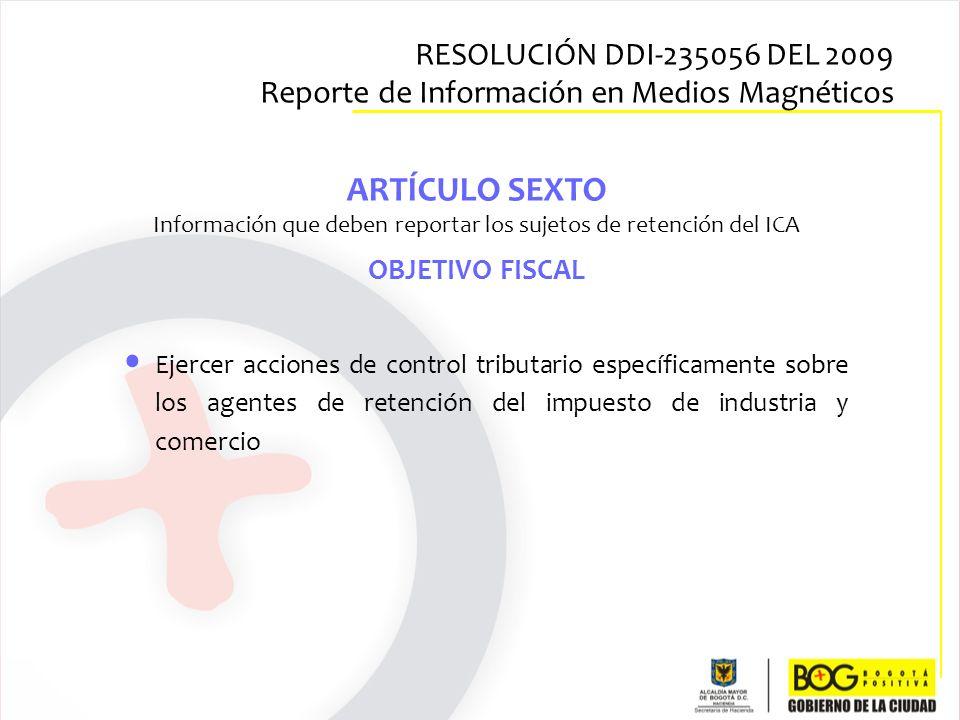 Información que deben reportar los sujetos de retención del ICA