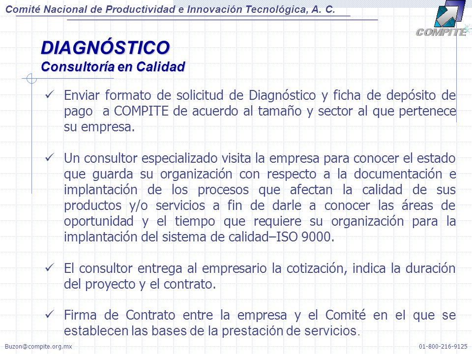 DIAGNÓSTICO Consultoría en Calidad